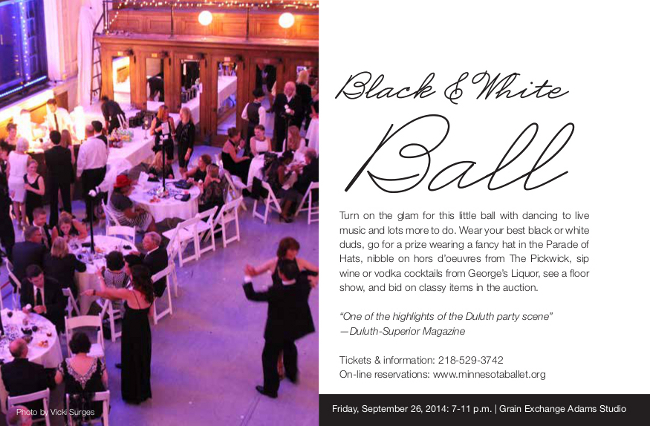 Black and white ball brochure