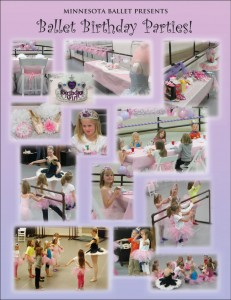 ballet bday collage